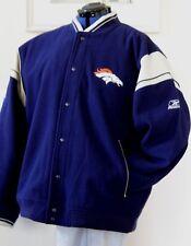 Men's Team NFL Denver Broncos Wool & Faux Leather Varsity Jacket Sz 2XL Reebok
