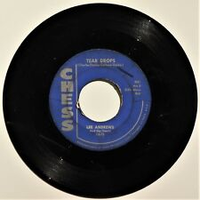 """LEE ANDREWS AND THE HEARTS - TEAR DROPS - 7"""" 45rpm VG CHESS 1675 1957 Doo Wop"""