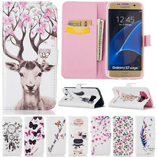 Wallet Flip Leather Pattern Holders Stand Case Cover For Samsung S8 Plus S7 Edge