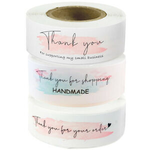 Thank you for your shopping Stickers Pink Business Gifts Seal Handmade Labels