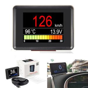 Car Dash Board Windshield OBD2 LCD Head up Speedometers Display Multi Gauges