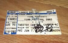 Autographed Y100 Feztival 2002 Tweeter Center Radio station Concert Ticket Rock