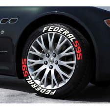 """FEDERAL 595 Tire Lettering Permanent Stickers 1.25"""" Wheel 16""""-22"""" (8 Kit)"""