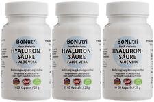 SUPERSPARPACK 3x Hyaluronsäure 300 mg 500-700 kDa + Aloe Vera 180 vegane Kapseln