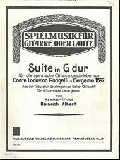 Conte Lodovico Rongalli ~ Suite in G dur ( Bergamo 1692 )