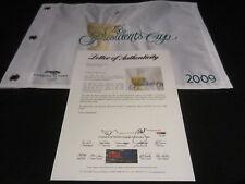 Hunter Mahan Signed 2009 Presidents Cup Pin Flag Psa/Dna Harding Park Sf