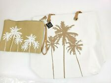 Parade Street Products Palm Tree Tropical Canvas Tote Bag Set
