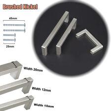 Stainless Steel Kitchen Cabinet Handles Square Door Knobs Cupboard Drawer Pulls