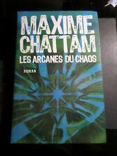 LIVRE MAXIME CHATTAM, LES ARCANES DU CHAOS, ROMAN, LIBRO, BOOK