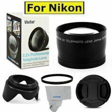 52MM 2.2X TELEPHOTO ZOOM LENS +LENS HOOD +UV FILTER FOR NIKON D3300 D5000 D5100