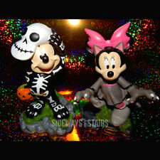 MICKEY & MINNIE GARDEN STATUES Halloween decoration skeleton cat Disney figures
