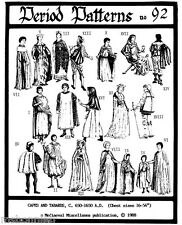 19 Medieval-Renaissance Capes & Tabards Child & Adult sz  Period Patterns 92 SCA