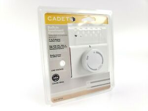 Cabet BTF2W Part 08734 Built-In Baseboard Thermostat Double Pole White