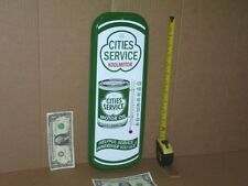 CITIES SERVICE -- Gas Station  -- 1 Quart OIL CAN -- Temperature Sign --- NICE !