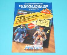 MOTU HE-MAN MASTERS OF THE UNIVERSE CATALOG POSTER FOLDOUT 'DUTCH DUO PACK' 1984