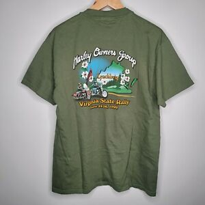 Virginia State Rally 1999 Annual HOG Rally Black Graphic 2 Sided T-Shirt Size L