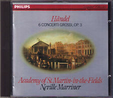 Neville Marriner: commercio 6 concerti grossi op.3 concerto grosso Philips CD 1982