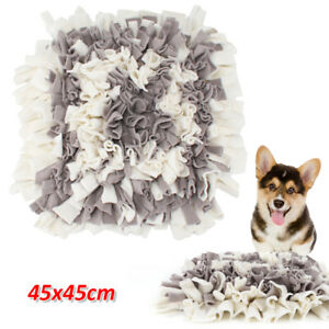 45cm Dog Puppy Snuffle Mat Pet Puzzle Toy Sniffing Nose Training Pad Washable UK