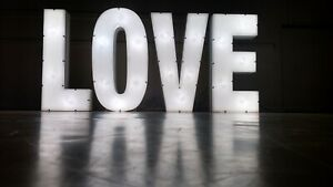 GIANT illuminated LOVE letters - PURCHASE NOT HIRE