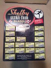 Vintage Shelby Razor Display FREE DISPLAY  INV-P2222