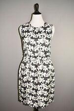 KATE SPADE $398 Black White Floral Swanson Sleeveless Sheath Dress Size 14