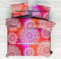 Indien Galaxy Ombre Mandala Literie Tapisserie Orange Reine Lit Drap Set Décor