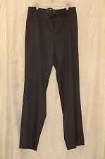 Escada Black Wool Blend  Wide Leg  Buckle Closure Pants Size 42