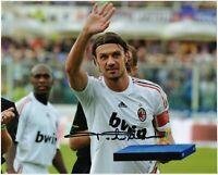 Paolo Maldini Autografo Coa Sport Foto Autografata Ultima Partita Last Match