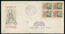 Mayfairstamps Netherlands 1953 Block Kinderzegels First Day Cover wwe92669