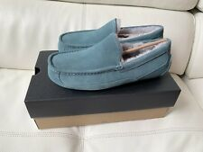 UGG Ascot Mens Moccassin Slippers Salty Blue Size 10 New