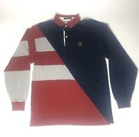 Vintage Tommy Hilfiger Men's Polo Long sleeve Striped Multicolor Size XL