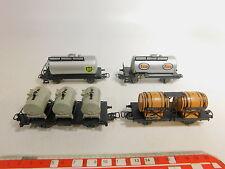 AS530-1 #4x märklin H0/AC Freight Car: Bp + Esso +4510 Bordeaux+Container