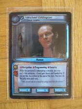 Michael Eddington 0d6-PROMO FOIL CARD-STAR TREK 2nd Edition CCG ST Game