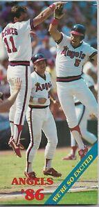 1986 CALIFORNIA ANGELS MLB MEDIA GUIDE VINTAGE FREE SHIPPING