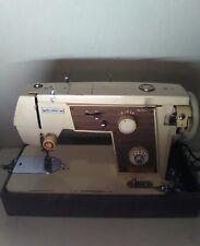 VINTAGE DRESSMAKER DELUXE ZIG ZAG  SEWING MACHINE HEAVY DUTY MODEL 77 WORKS