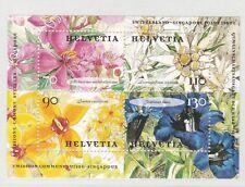 SVIZZERA NUOVI - 2001 FIORI - FOGLIETTO