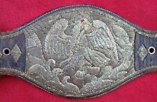GOLD & SILVER EAGLE FINE FANCY ANTIQUE HAND EMBROIDERD MATCHING AUTO GUN RIG