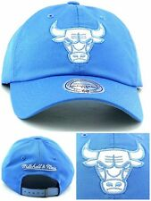 Chicago Bulls New Mitchell & Ness Leather Blue Women Ladies Era 47 Hat Cap