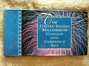 "2000 MILLENNIUM COINAGE AND CURRENCY SET ""LOW SERIAL NUMBER"" - ""D 20000129 B"""