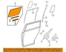 TOYOTA OEM 11-13 Highlander Glass-Rear-Door Window Right 6811348121