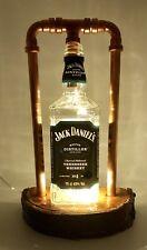 J D Jack Daniels steampunk copper bottle lamp rustic vintage retro led light no4