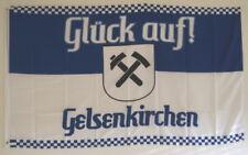 FAHNE FLAGGE GE 0688 GELSENKIRCHEN RUHRPOTT MEINE STADT GLÜCK AUF