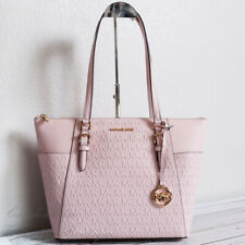 NWT Michael Kors Charlotte Top Zip Tote in Vegan Faux Leather Powder Blush