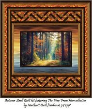 New listing Dream Excape quilt kit Northcott The View From Here Autumn Scroll 74x79