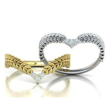 Elegant Rings for Women 925 Silver,Rose Gold,Gold White Sapphire Ring Size 6-10
