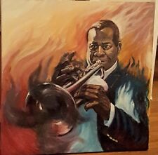 Louis Armstrong Painting Portrait Music Jazz Saxophone Art Hand Painted Acrylic