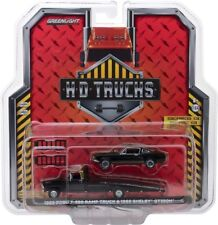 1968 Ford F-350 Rampa Camión & 1966 Shelby GT350H Negro 1/64 By Greenlight