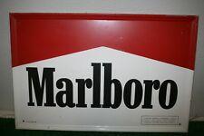 Vintage 1991 Marlboro Logo Red/White Tin Metal Sign 23 x 15