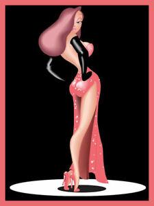 Jessica Roger Rabbit Sex Symbol Pin-up Animation Cartoon Girl Woman 80s Tshirt
