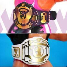 Belts for WWF WWE Hasbro Wrestling Figures - 1xEagle BLACK & 1x IC WHITE WFW